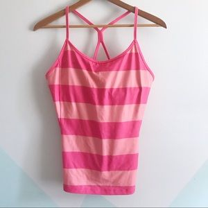 Old Navy Active pink striped athletic top XL